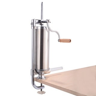 Costway Stainless Steel Vertical Sausage Stuffer 3L Maker Meat Filler Commercial