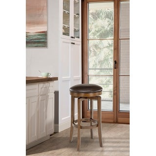 Link to Brendan Backless Brown Cherry Stool Similar Items in Dining Room & Bar Furniture