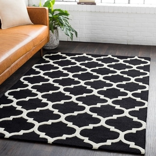 Hand-tufted Riso Moroccan Trellis Wool Rug