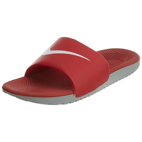 best loved a7b48 c2ef8 Nike Men  x27 s Kawa Slide Athletic Sandal, University Red White