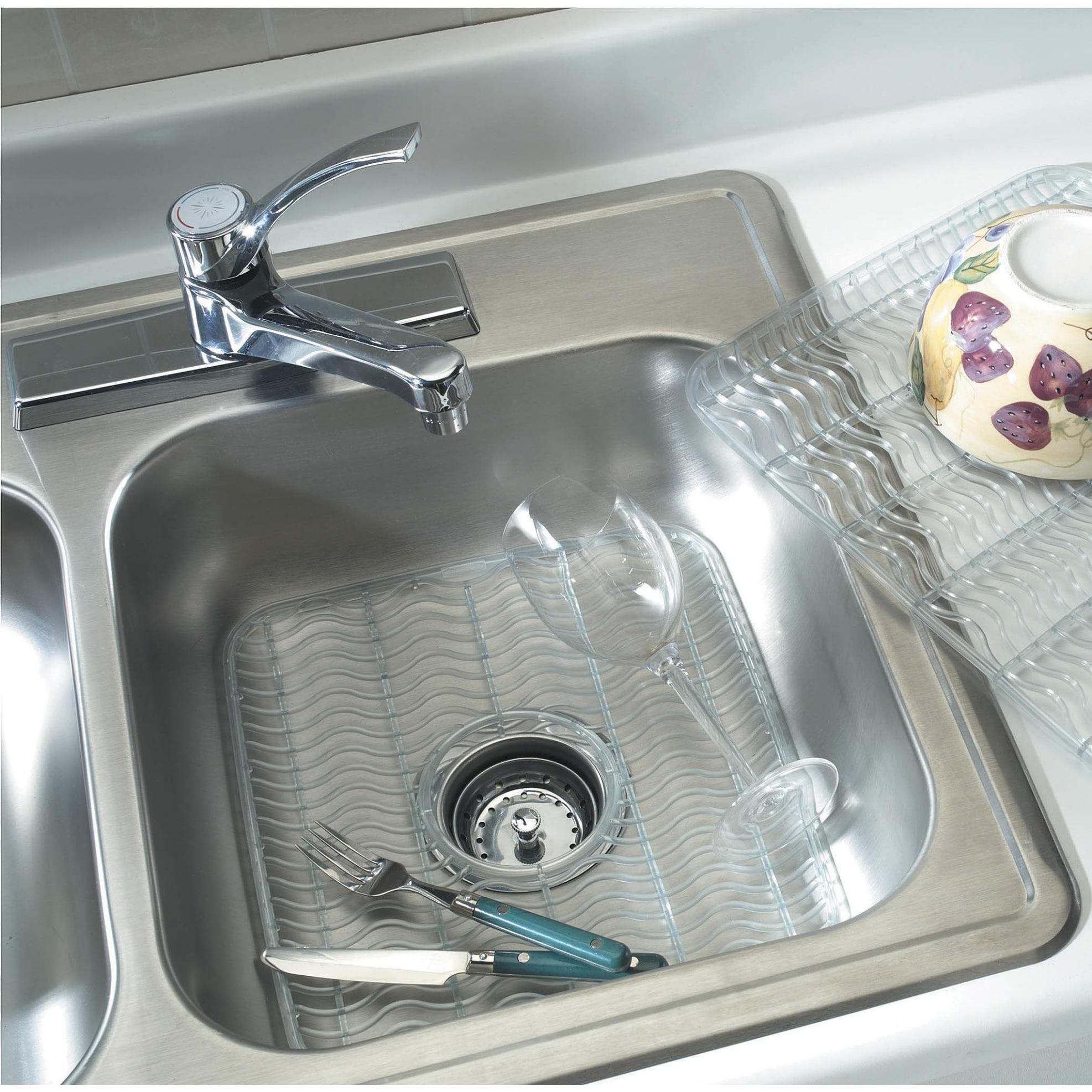 Rubbermaid 129506 11.5 Inch Wide Single Basin Sink Mat - Clear