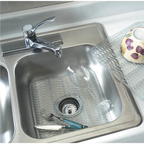 "Rubbermaid 129506 11.5"" Wide Single Basin Sink Mat - Clear"