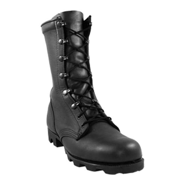 "McRae Footwear Men's 10"" Combat Boot with Panama Outsole 6189 Black"