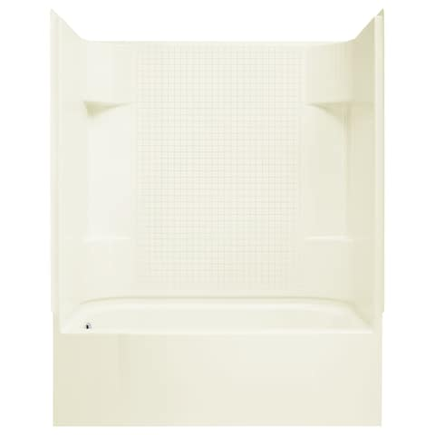 "Sterling 71140112 Accord 60"" x 31-1/4"" x 75-1/2"" Vikrell Shower with Drain Left and Tile Design"