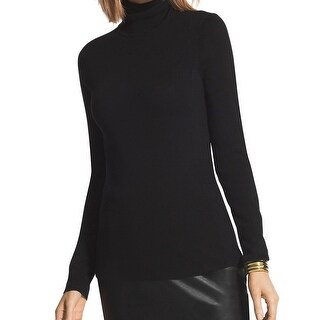 Chico's NEW Black Women's 2 US Medium M Darcy Turtleneck Sweater