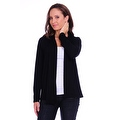 Simply Ravishing Women's Basic Long Sleeve Open Cardigan (Size: Small-5X) - Thumbnail 0