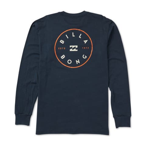 Billabong Mens Rotor Logo Graphic T-Shirt, Blue, Medium