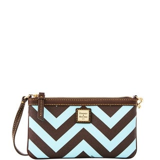 Dooney & Bourke Chevron Large Slim Wristlet (Introduced by Dooney & Bourke at $78 in Sep 2016) - Light Blue