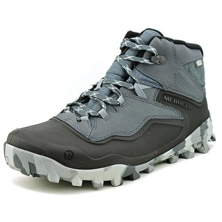 Merrell Fraxion Shell 6 Waterproof Men Round Toe Synthetic Black Hiking Boot