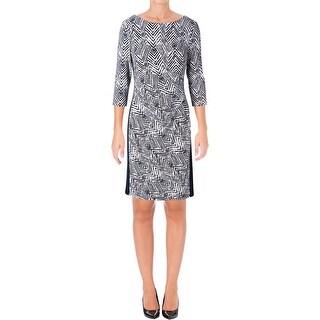 Lauren Ralph Lauren Womens Wear to Work Dress Gathered Sheath