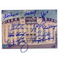 Yankee Stadium 8 x 10 Photo Autographed By 11 New York Yankees