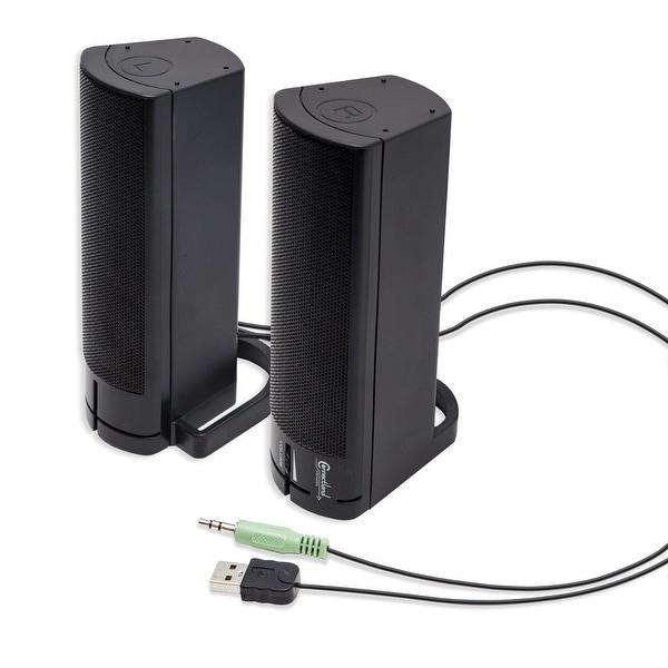 USB Powered Desktop Monitor Stereo Speaker Sound Bar