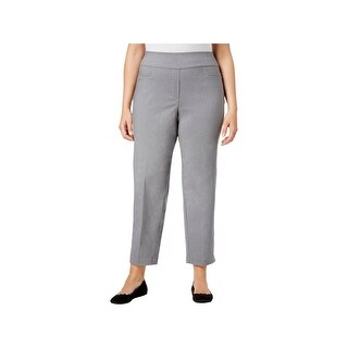 Alfred Dunner Womens Plus Allure Ankle Pants Office Work Wear