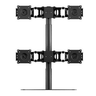 "Doublesight Quad Monitor Flex Stand Fully Adjustable Height Tilt Pivot Free Standing, Vesa 75Mm/100Mm, Up To 24"" Monitor"