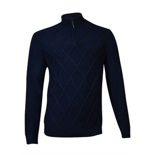 Perry Ellis Men's Diamond Pattern Sweater (XL, Dark Sapphire) - dark sapphire - XL