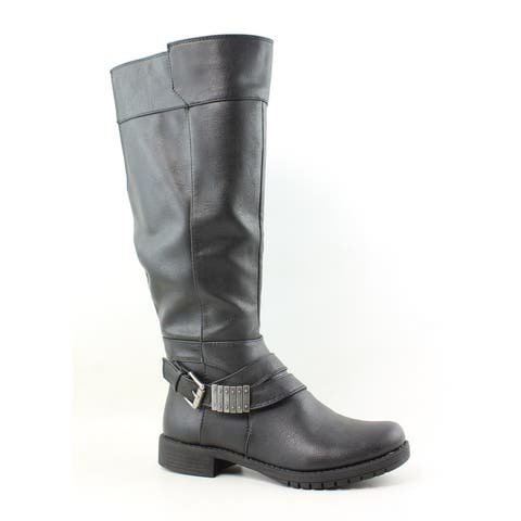 LifeStride Womens Maximize Black Fashion Boots Size 5