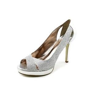 Alfani Fairfax Women Peep-Toe Synthetic Silver Heels