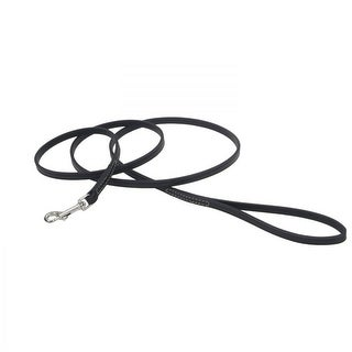 "Circle T Leather Lead - 6' Long - Black 6' Long x 3/8"" Wide"