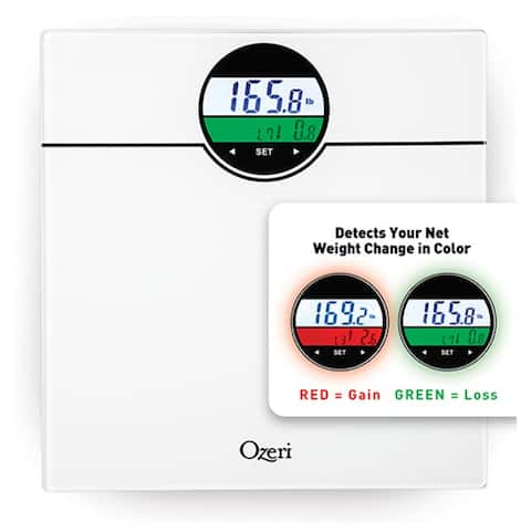 Ozeri Weightmaster 400 Lbs Digital Bathroom Scale With Bmi And Weight Change Detection