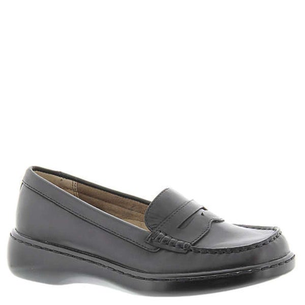 ARRAY Womens Tracy Leather Closed Toe Loafers, Black Leather, Size 6.0 - 6