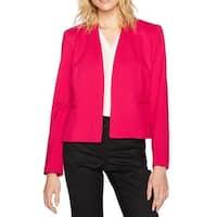 Nine West Fiesta Pink Womens Size 16 Open-Front Ponte-Knit Jacket