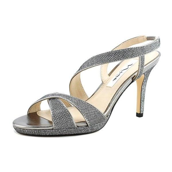 Nina Brilyn Women Open-Toe Synthetic Silver Slingback Heel