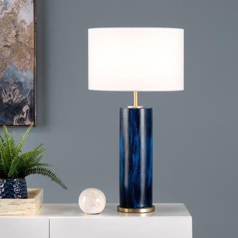 "nuLOOM Gilson 28"" Ceramic Table Lamp - 15""W x 15""D x 28""H"