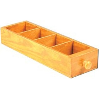 """4 Divided Areas - Mini Library Drawer 2""""X3.5""""X11.25"""""""