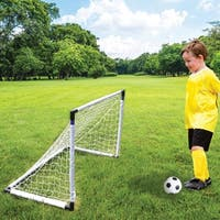 Daily Basic Kids Fun Indoor and Outdoor Plastic and Nylon 2 in 1 Soccer and Hockey Game Set