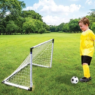 Daily Basic Kids Fun Indoor & Outdoor Plastic & Nylon 2 in 1 Soccer & Hockey Game Set