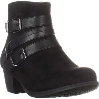 Easy Street Coby Ankle Booties, Black, 7 WW US, Black