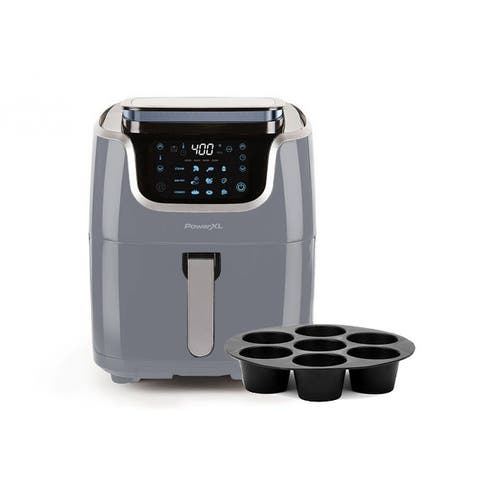 PowerXL 7-qt 10-in-1 1700W Air Fryer Steamer with Muffin Pan Refurbished