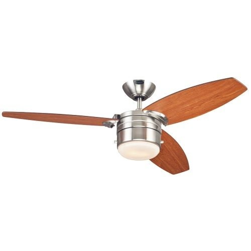 """Westinghouse 7247400 Lavada 48"""" 3 Blade Hanging Indoor Ceiling Fan with Reversible Motor, Blades, Light Kit, and Down Rod"""
