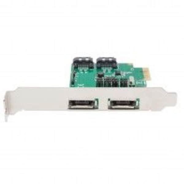 Syba PCIe x1 Interface Version 2.0/ 2-Port SATA6G RAID Card with Low Profile Bracket ASMedia 1061R Chipset