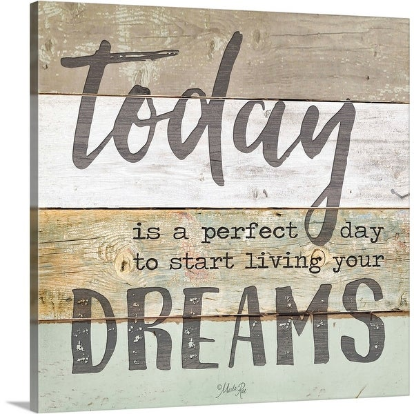 """""""Live Your Dreams"""" Canvas Wall Art"""