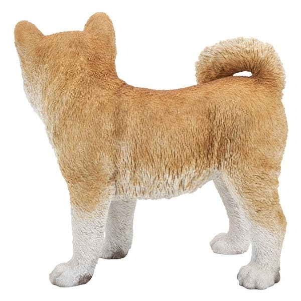 Shop 38 75 Wheat Brown And White Akita Dog Standing Garden Statue On Sale Overstock 30682280