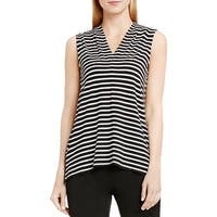 Vince Camuto Womens Casual Top V-Neck Striped