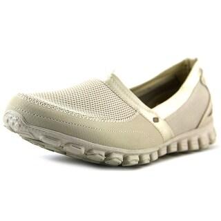 Skechers GOwalk 2-Frenzy Women Round Toe Canvas Tan Sneakers