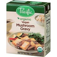 Pacific Natural Foods Mushroom Gravy - Organic Vegan - Case of 12 - 13.9 oz.