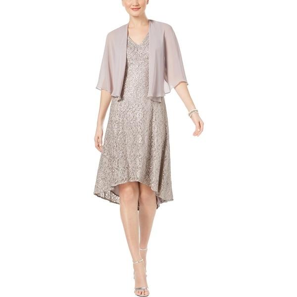 SLNY Womens Party Dress Chiffon Hi-low