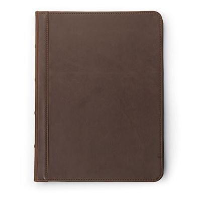 Samsill Vintage Hardback Zipper Padfolio, Business And Interview Portfolio, Refillable Letter Size Writing Pad, Dark Bro