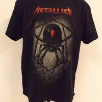"Metallica ""Black Widow Spider"" Adult Size L Large  Concert T-Shirt  78Bw"