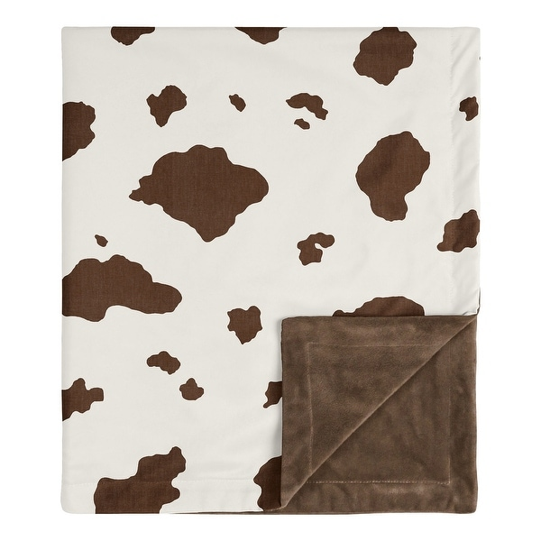 Wild West Cow Collection Boy Baby Receiving Security Swaddle Blanket - Brown and Cream Western Southern Country Animal. Opens flyout.