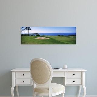 Easy Art Prints Panoramic Images's 'The Manele Golf course, Lanai City, Hawaii, USA' Premium Canvas Art