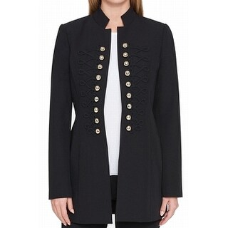 Tommy Hilfiger NEW Black Womens Size 2 Double-Breasted Topper Jacket