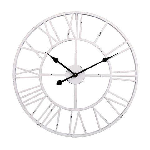 "Utopia Alley Roman Round Wall Clock, 24"" Diameter"