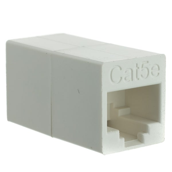 Offex Cat5e Crossover Coupler, White, RJ45 Female, Unshielded