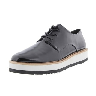Vince Womens Reed Faux Leather Platforms Oxfords