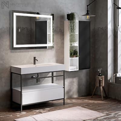 Neutypechic Smart LED Anti-fog Bathroom Vanity Mirror w/ Dimmer