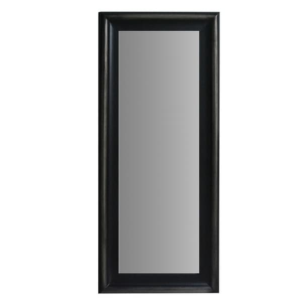 67 Inch Leaning Full Length Floor Mirror with Molded Wooden Framework, Brown. Opens flyout.